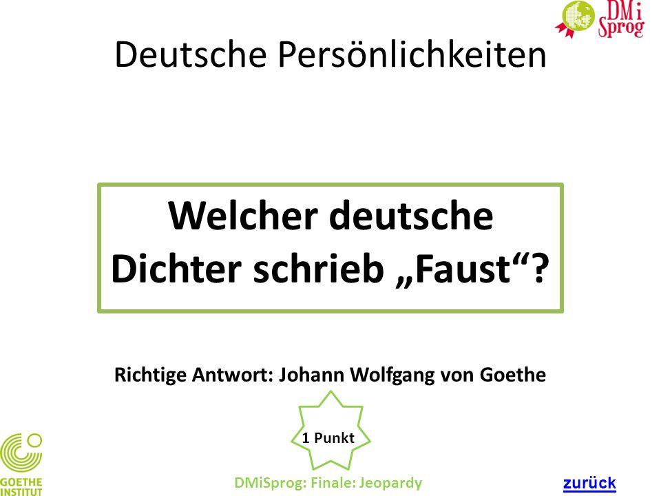"""Welcher deutsche Dichter schrieb """"Faust"""
