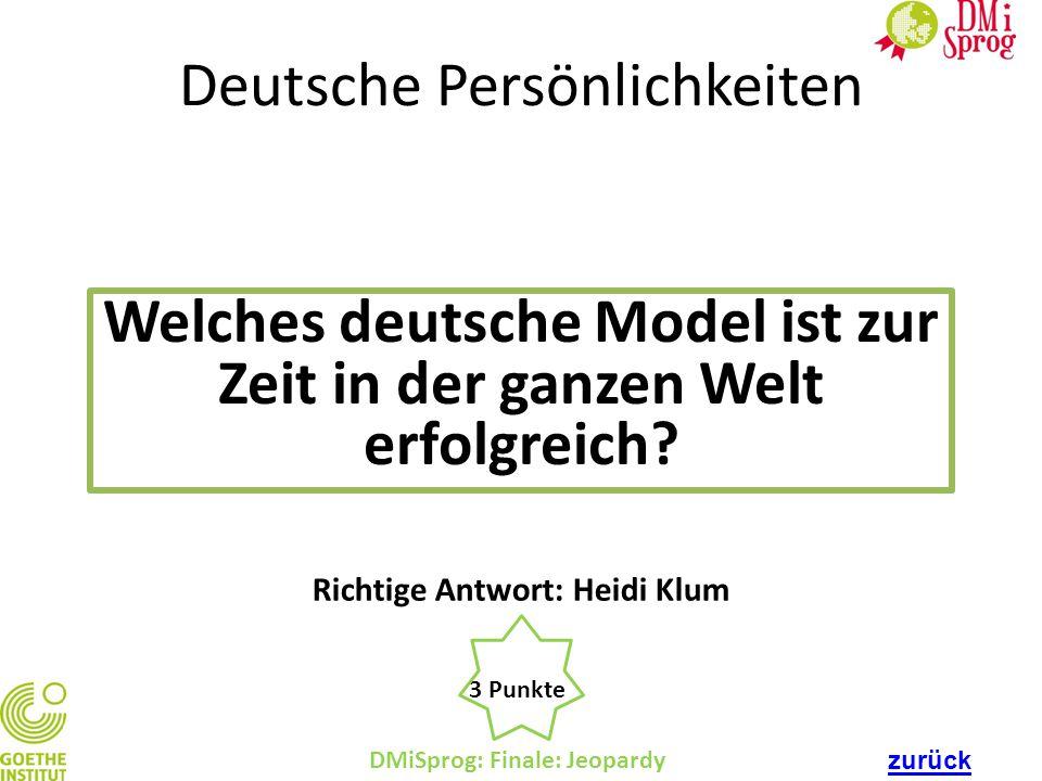 Welches deutsche Model ist zur Zeit in der ganzen Welt erfolgreich