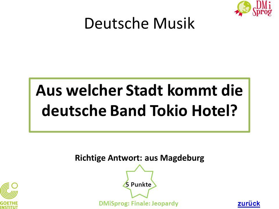 Aus welcher Stadt kommt die deutsche Band Tokio Hotel