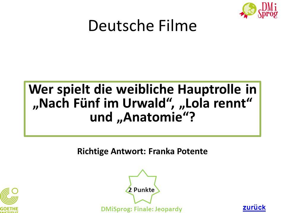 Richtige Antwort: Franka Potente