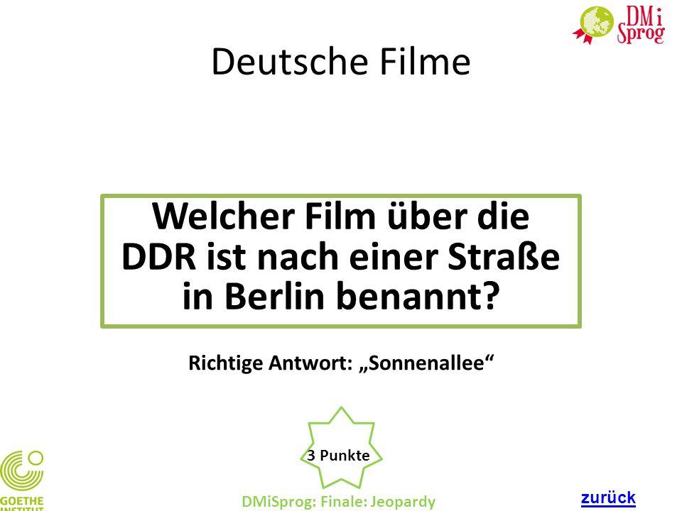 Welcher Film über die DDR ist nach einer Straße in Berlin benannt