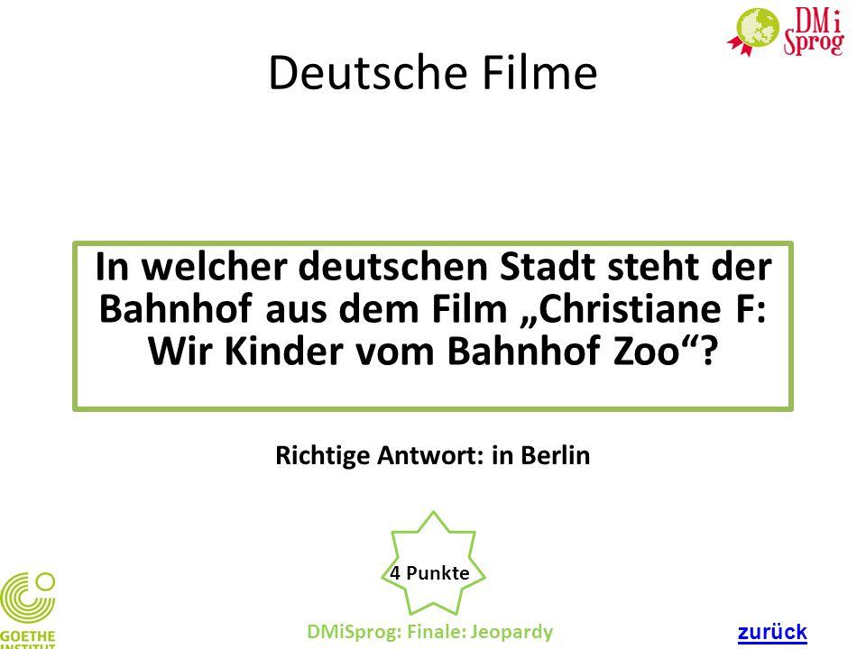 Richtige Antwort: in Berlin