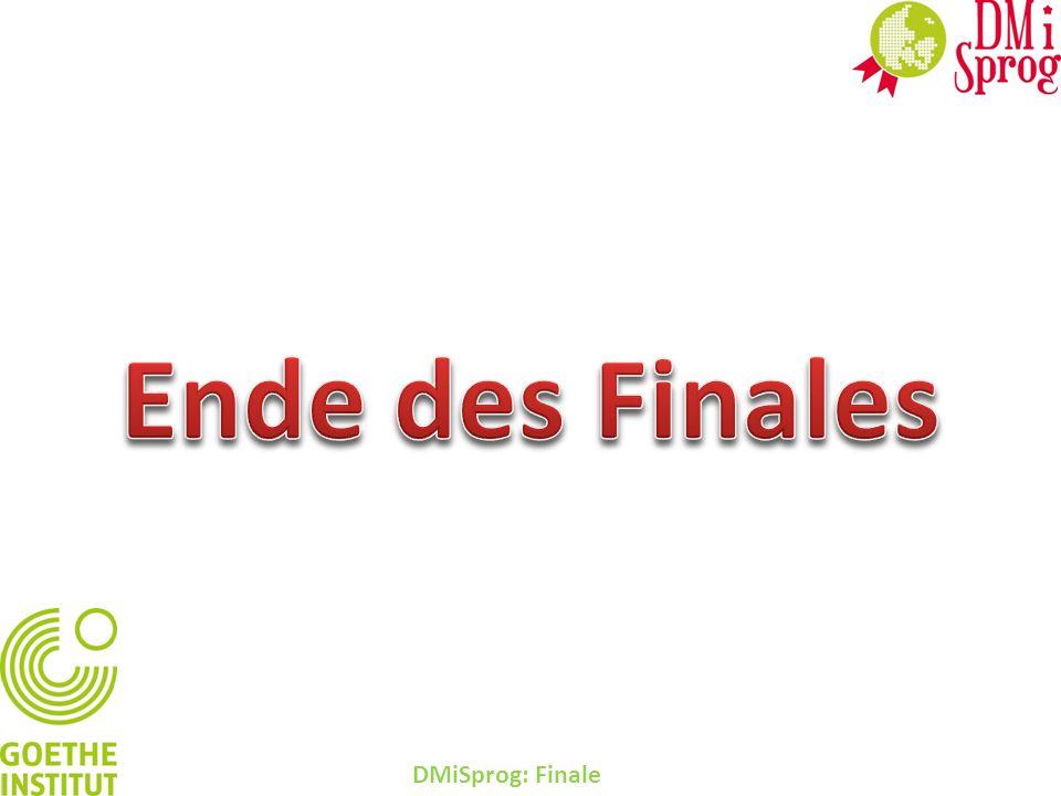 Ende des Finales DMiSprog: Finale