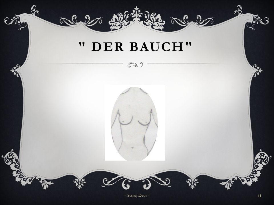 Der Bauch - Sunny Deys -