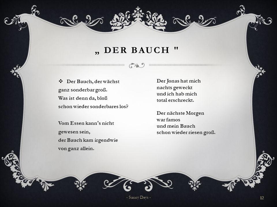 """"""" Der Bauch"""