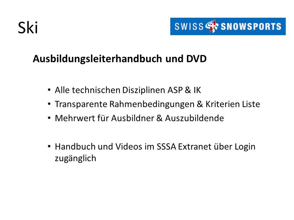 Ski Ausbildungsleiterhandbuch und DVD