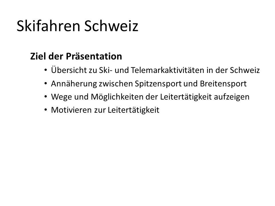 Skifahren Schweiz Ziel der Präsentation