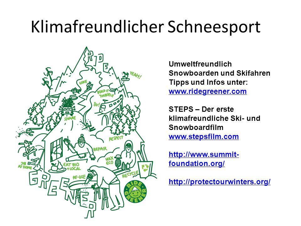 Klimafreundlicher Schneesport
