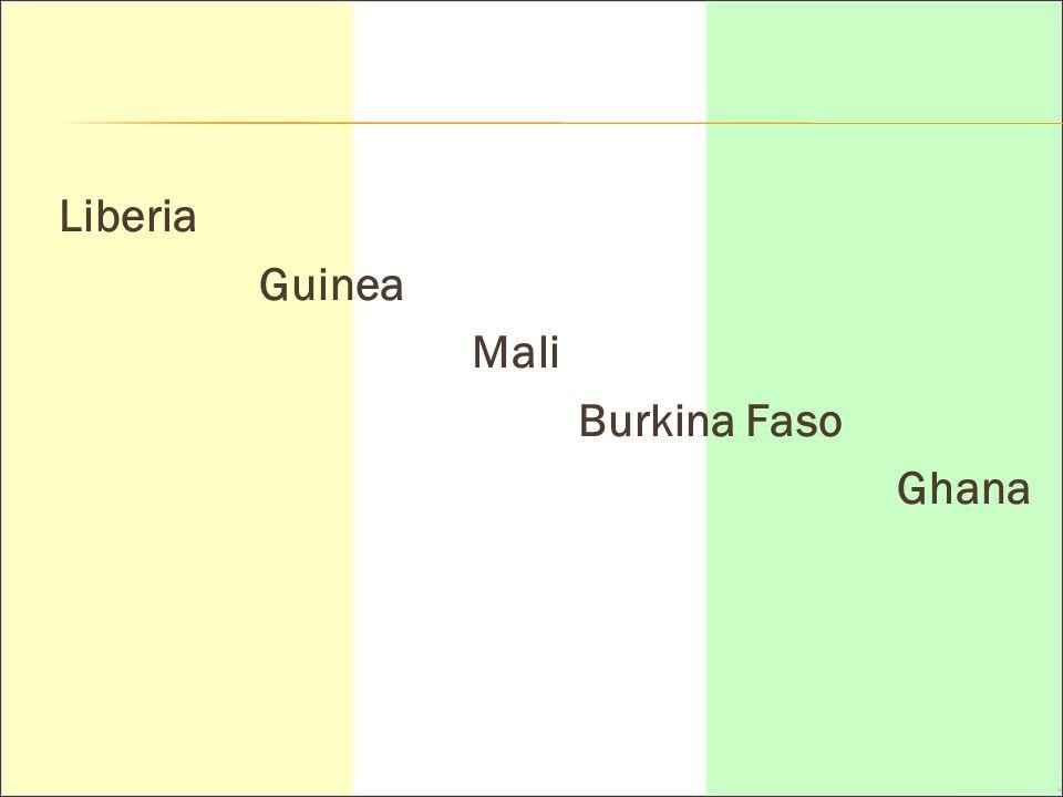 Liberia Guinea Mali Burkina Faso Ghana