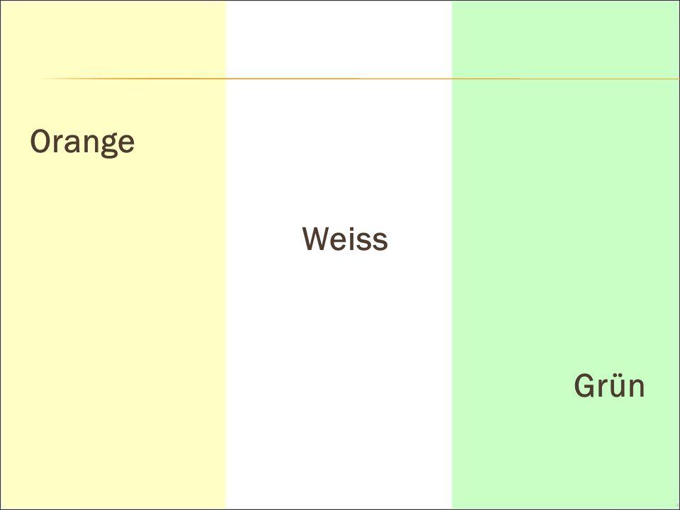 Orange Weiss Grün