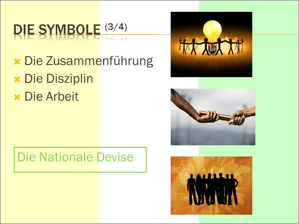 Die Symbole (3/4) Die Zusammenführung Die Disziplin Die Arbeit
