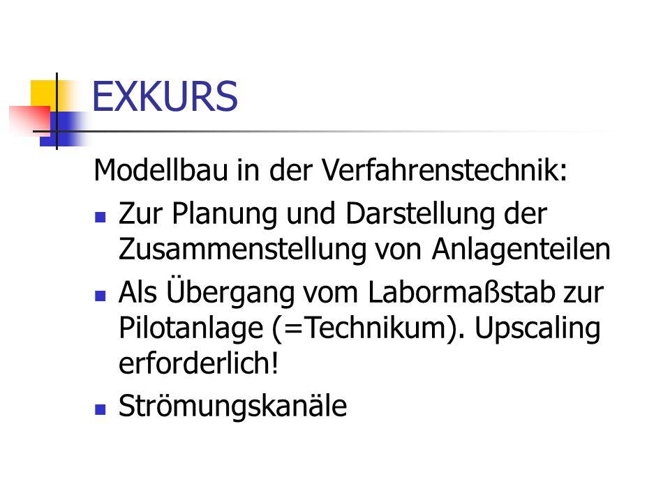 EXKURS Modellbau in der Verfahrenstechnik: