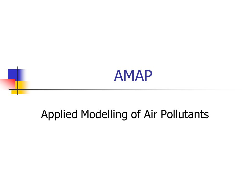 Applied Modelling of Air Pollutants