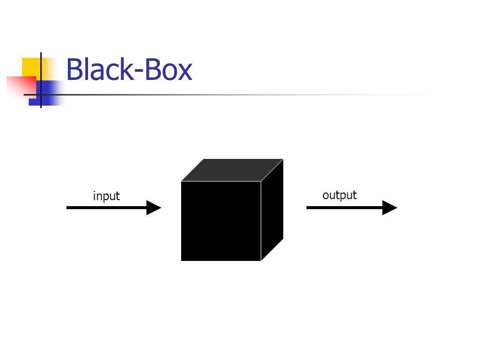 Black-Box input output