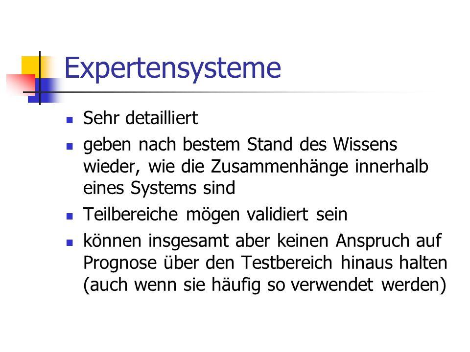 Expertensysteme Sehr detailliert