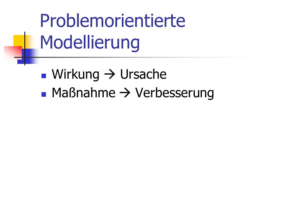 Problemorientierte Modellierung