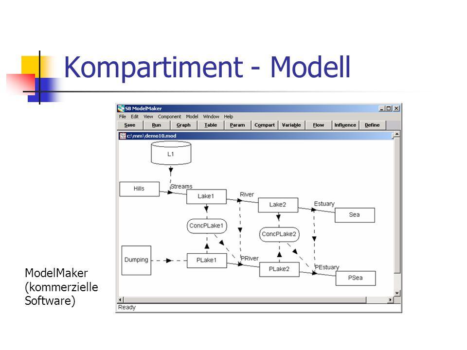 Kompartiment - Modell ModelMaker (kommerzielle Software)