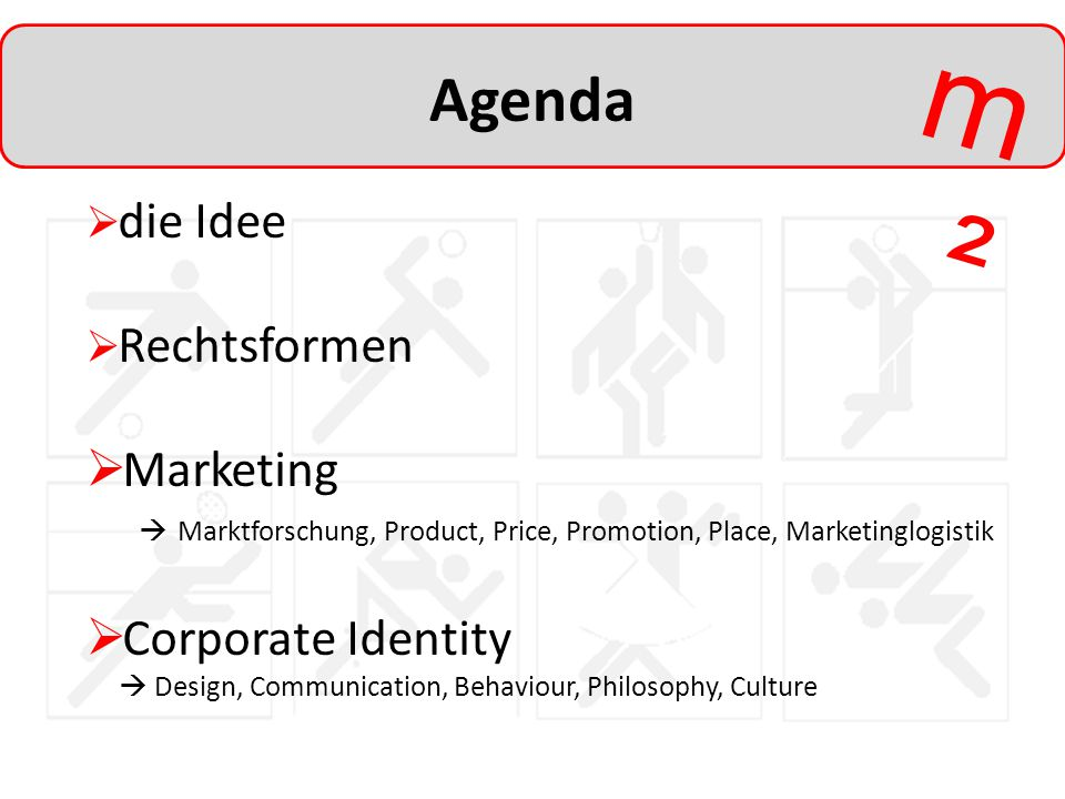 Agenda Marketing Corporate Identity die Idee Rechtsformen
