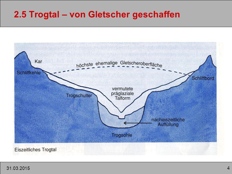 2.5 Trogtal – von Gletscher geschaffen
