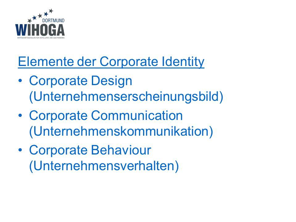 Elemente der Corporate Identity