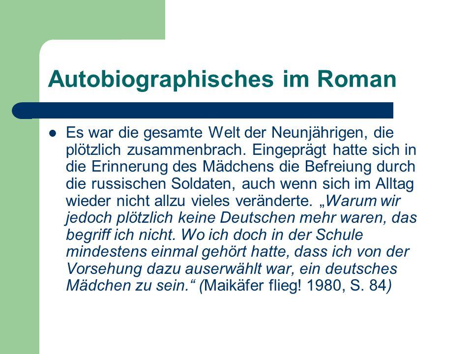 Autobiographisches im Roman