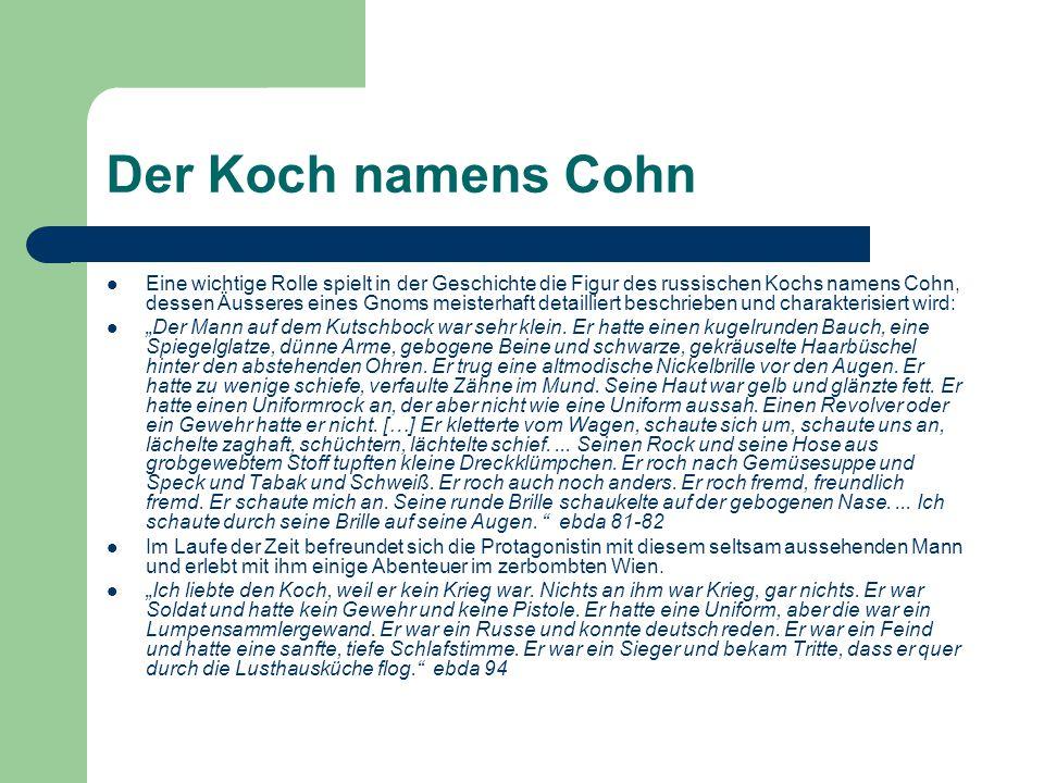 Der Koch namens Cohn