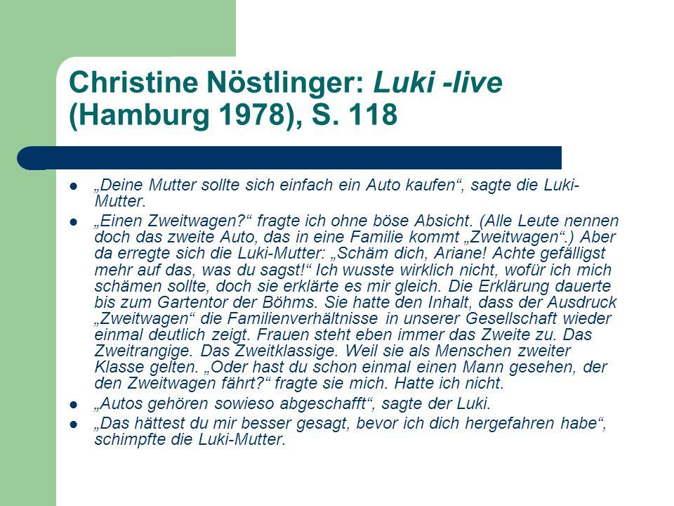 Christine Nöstlinger: Luki -live (Hamburg 1978), S. 118