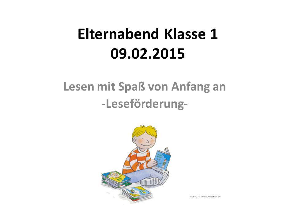 Lesen mit Spaß von Anfang an Leseförderung- Grafik: © www.lesebaum.de