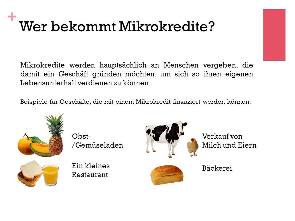 Wer bekommt Mikrokredite