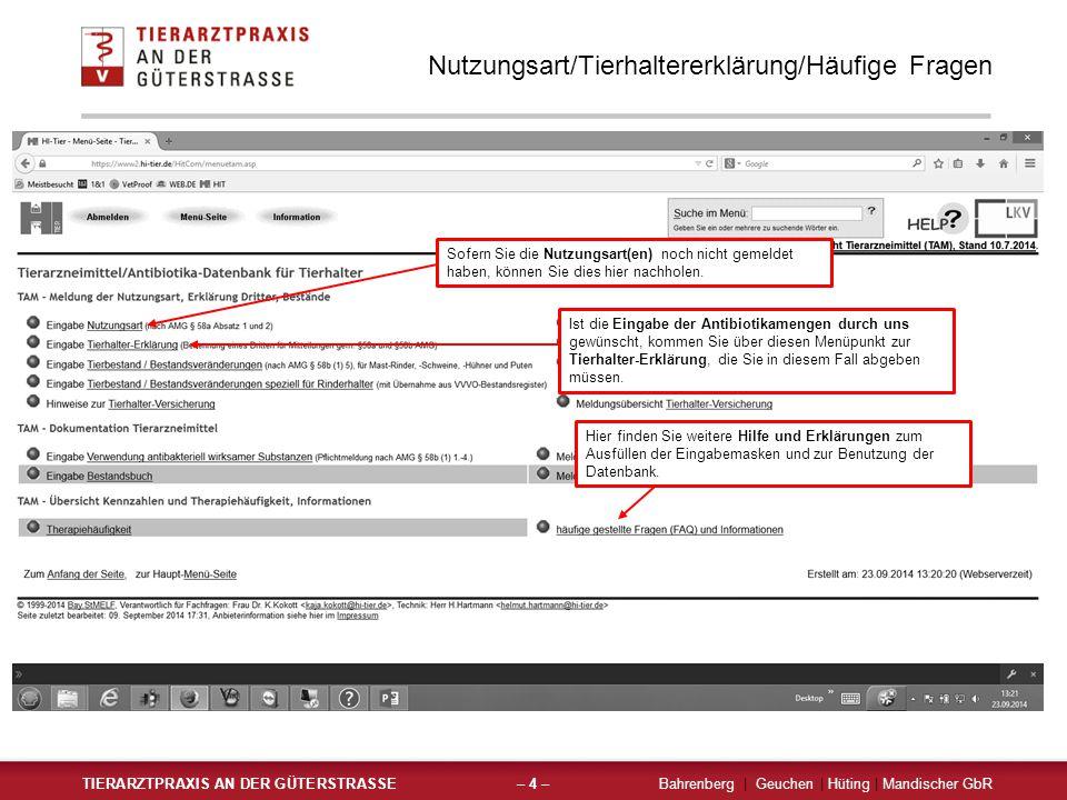Nutzungsart/Tierhaltererklärung/Häufige Fragen
