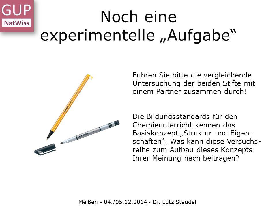"""Noch eine experimentelle """"Aufgabe"""