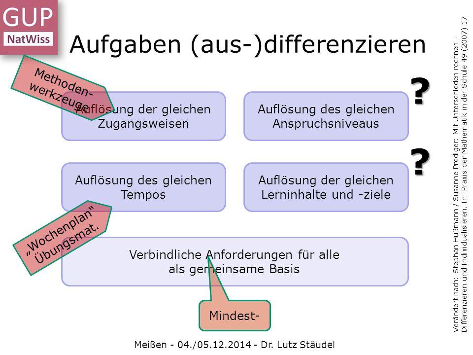 Aufgaben (aus-)differenzieren