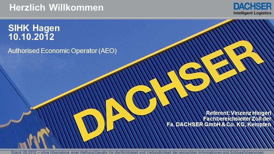 Herzlich Willkommen SIHK Hagen 10.10.2012
