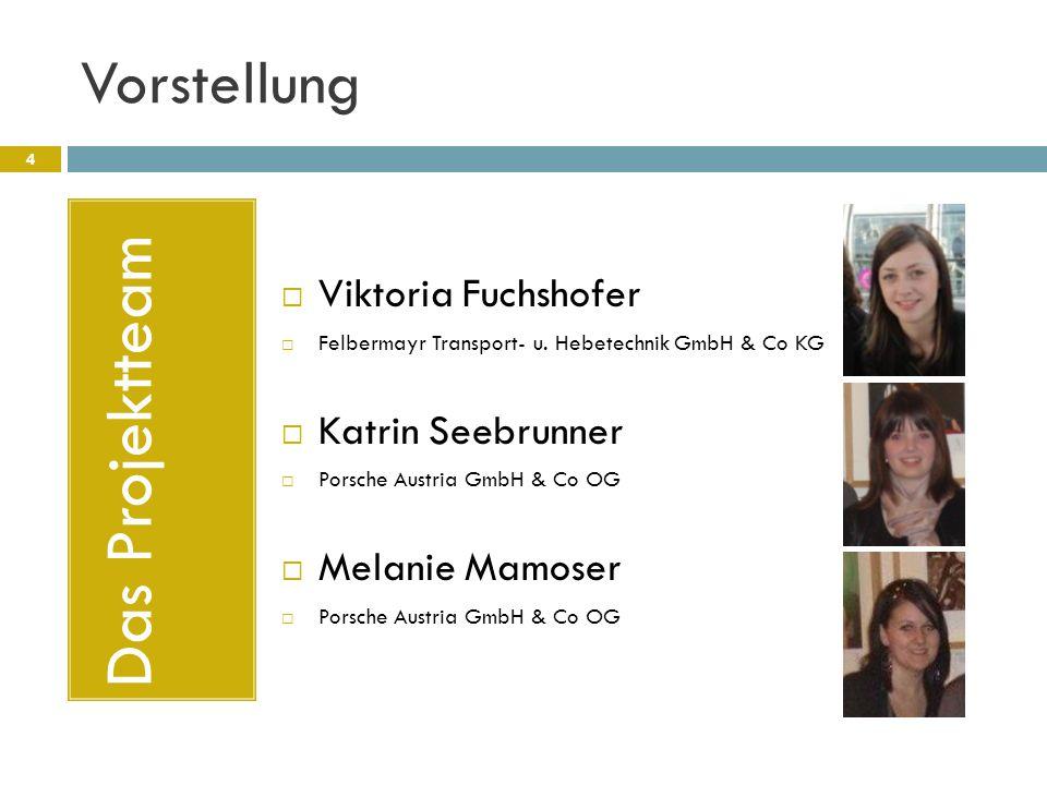 Das Projektteam Vorstellung Viktoria Fuchshofer Katrin Seebrunner