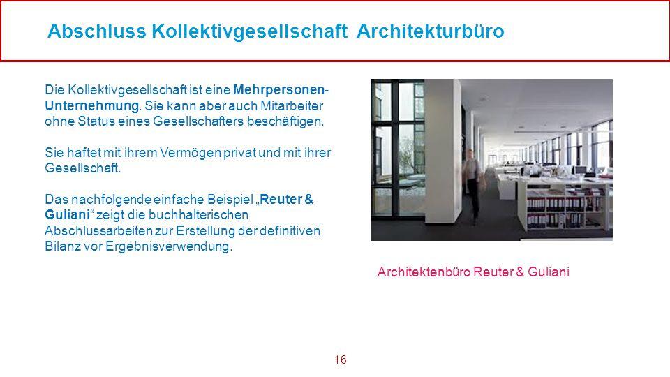 Abschluss Kollektivgesellschaft Architekturbüro