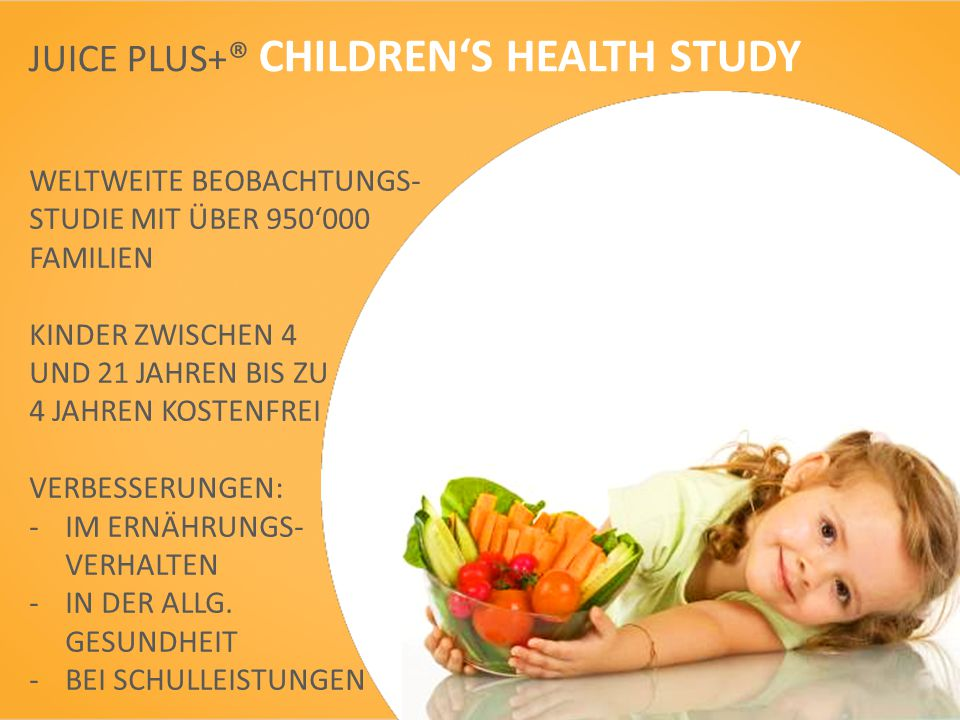 JUICE PLUS+® CHILDREN'S HEALTH STUDY