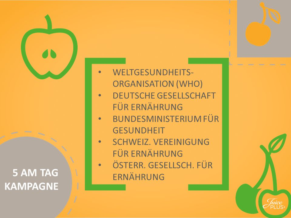5 AM TAG KAMPAGNE WELTGESUNDHEITS-ORGANISATION (WHO)