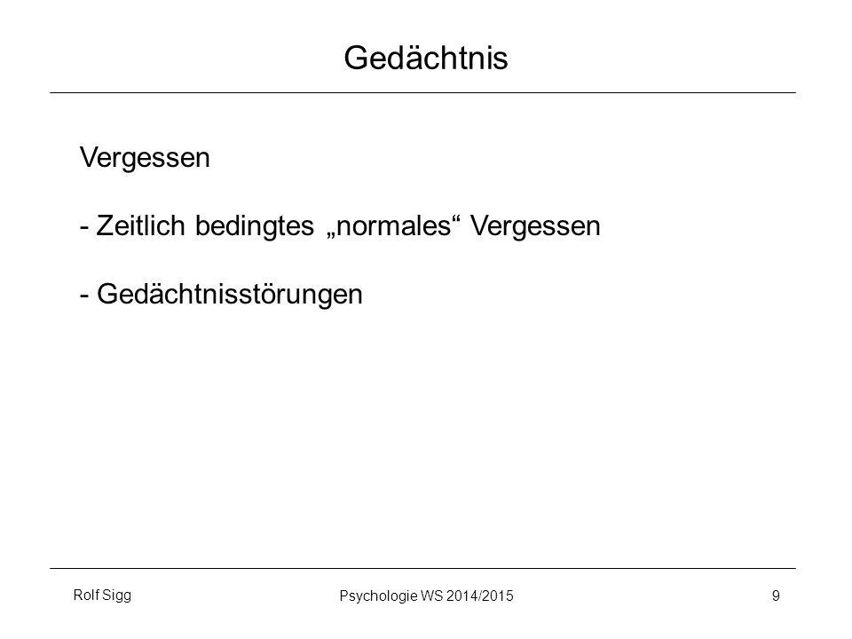 """Gedächtnis Vergessen - Zeitlich bedingtes """"normales Vergessen"""