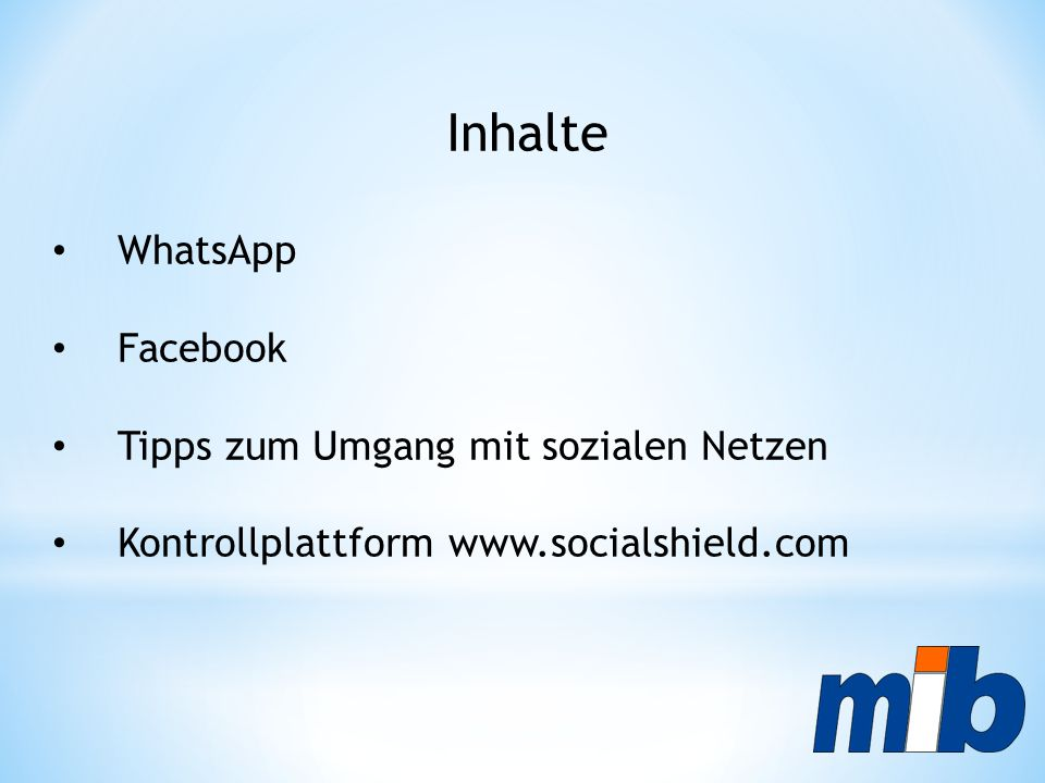 Inhalte WhatsApp Facebook Tipps zum Umgang mit sozialen Netzen