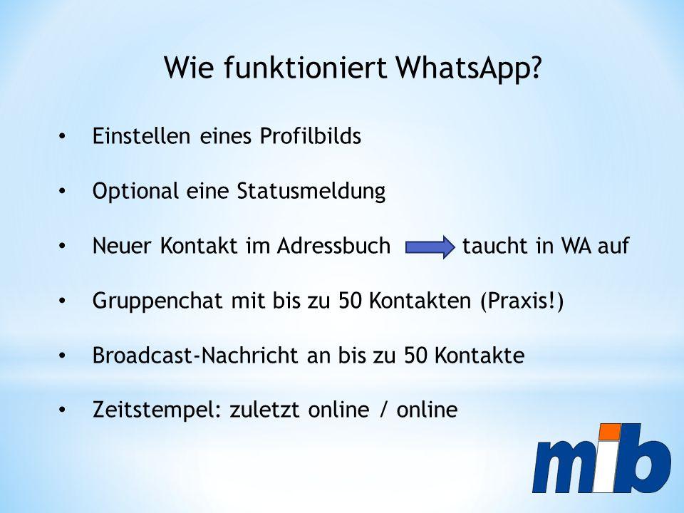 Wie funktioniert WhatsApp