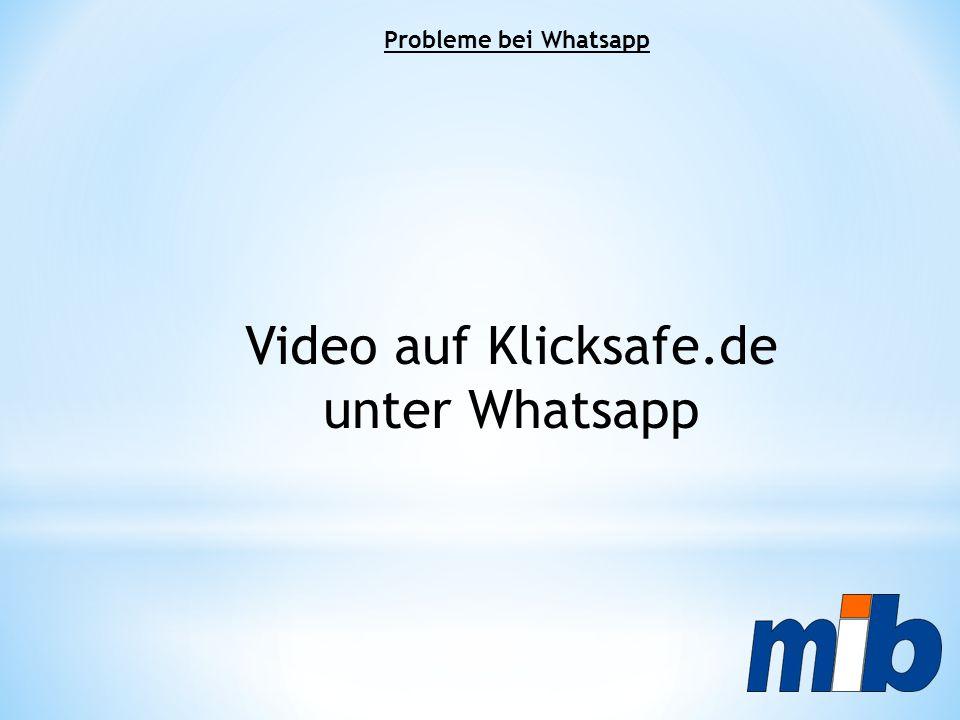 Video auf Klicksafe.de unter Whatsapp