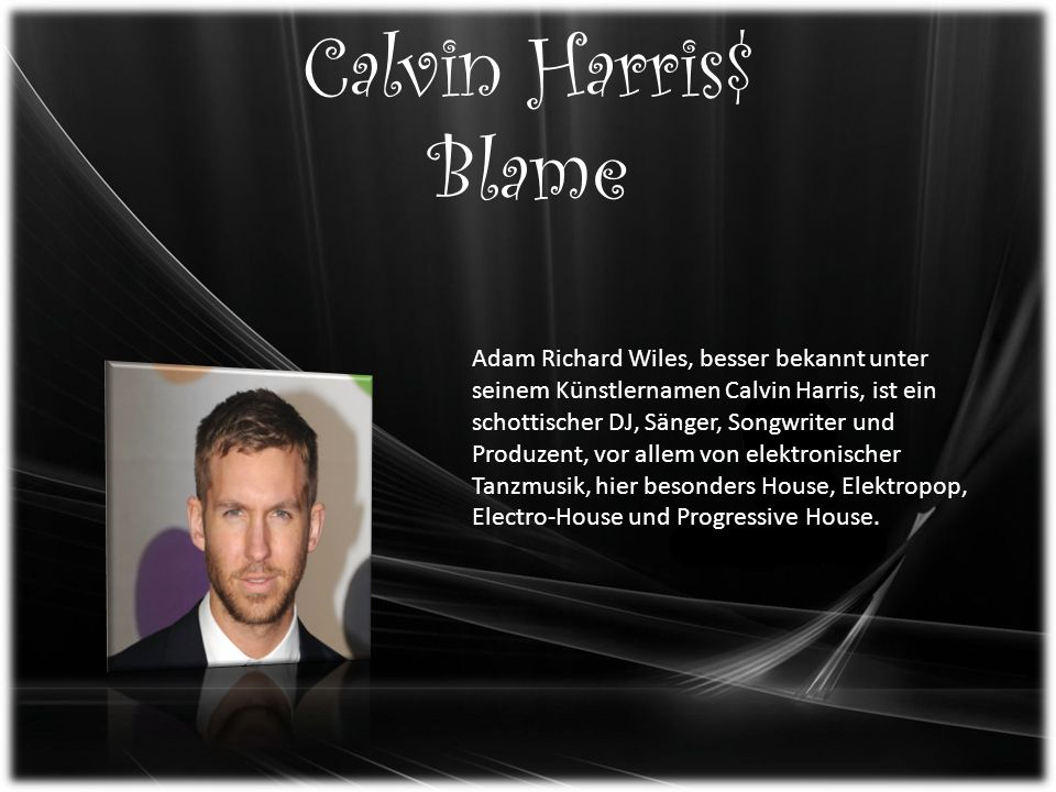 Calvin Harris$ Blame