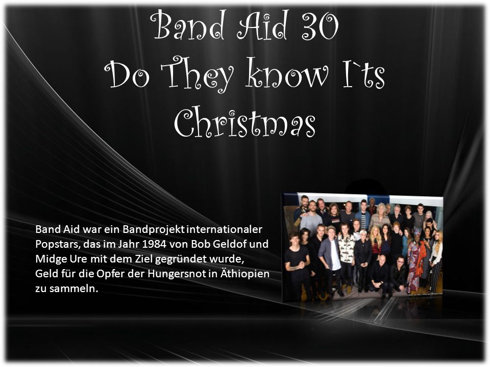 Band Aid 30 Do They know I`ts Christmas