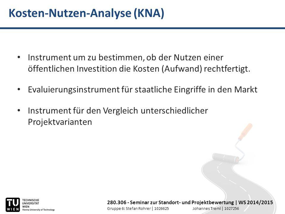 Kosten-Nutzen-Analyse (KNA)