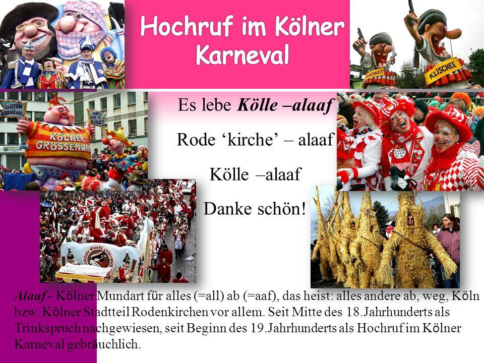 Hochruf im Kölner Karneval