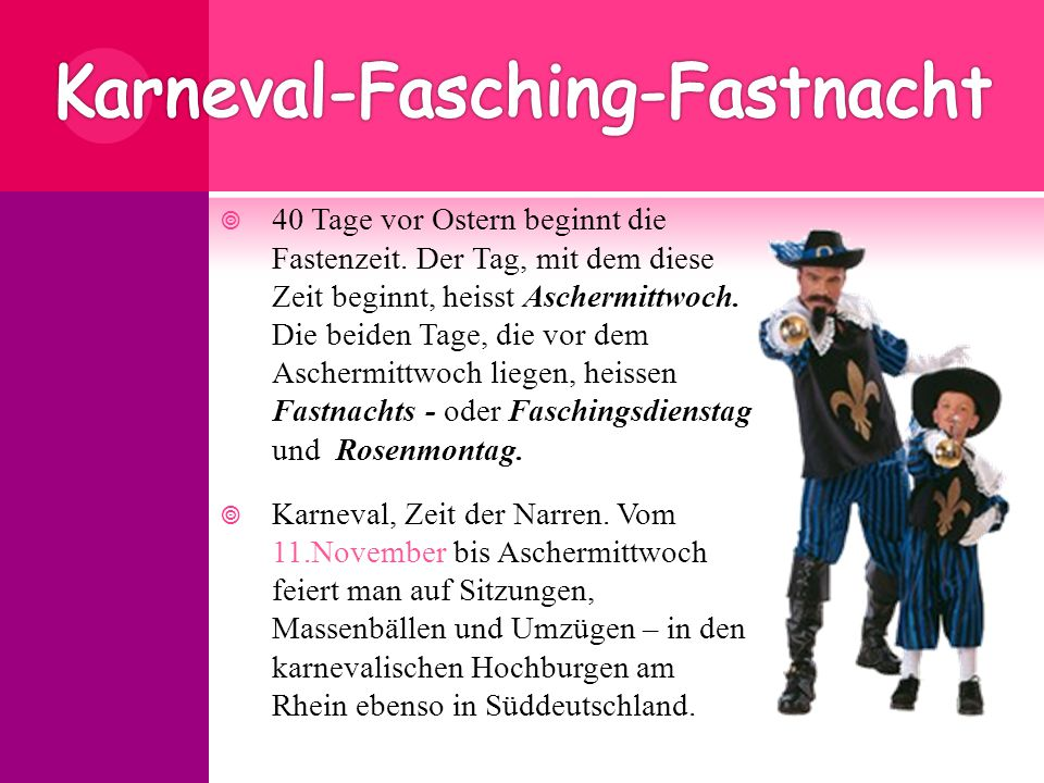 Karneval-Fasching-Fastnacht