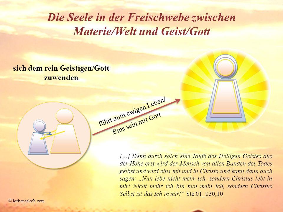 Die Seele in der Freischwebe zwischen Materie/Welt und Geist/Gott