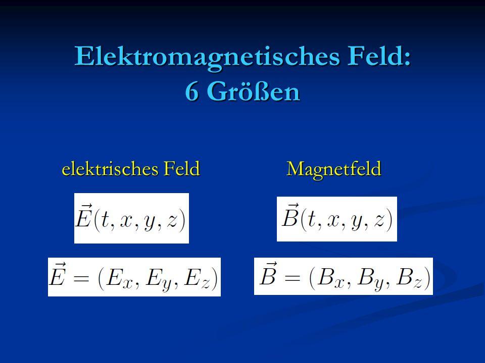 Elektromagnetisches Feld: 6 Größen