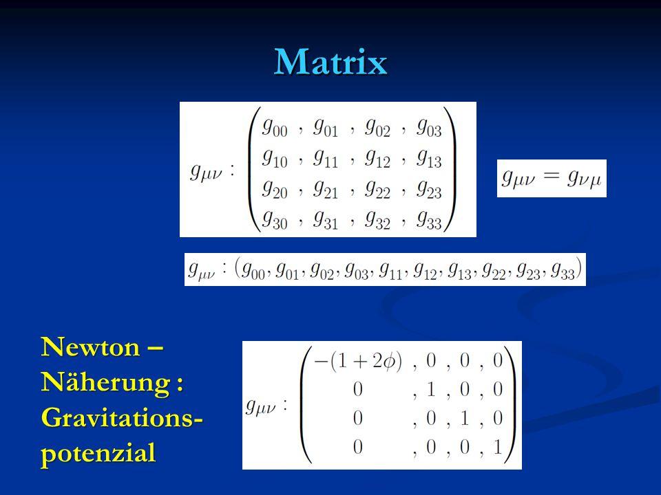 Matrix Newton – Näherung : Gravitations-potenzial
