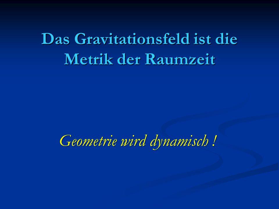 Das Gravitationsfeld ist die Metrik der Raumzeit